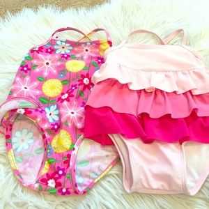 I Play Other - 2 pretty in pink bathing suits. Size M (18-22lbs)