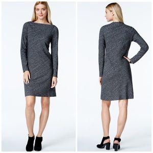 Eileen Fisher Dresses & Skirts - Eileen Fisher Gray Bateau Neck Knit Shift Dress
