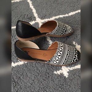 Bc peep toe flats