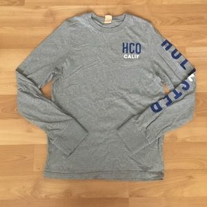 Hollister Other - VNTG Hollister Grey Long Sleeve Writing Tee Sz S