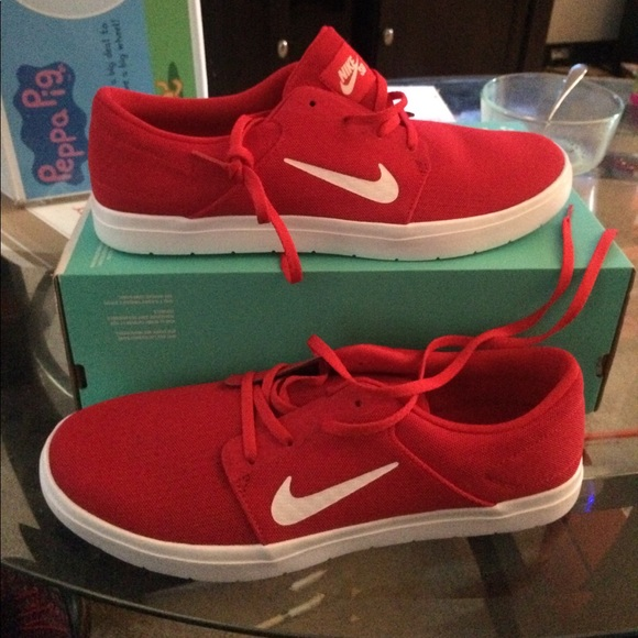 Nike Shoes New Men Fashion Sneakers Size 12 Color Red Poshmark