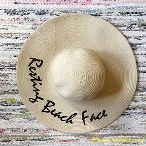 """Resting Beach Face"" Floppy Beach Hat"