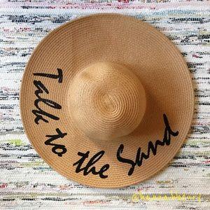 """Talk to the Sand"" Floppy Beach Hat"