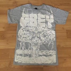 Obey Other - RARE Obey Atomic Bomb Logo Gray T Shirt Sz S