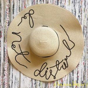 """""""Do Not Disturb"""" Sequin Floppy Beach Hat"""