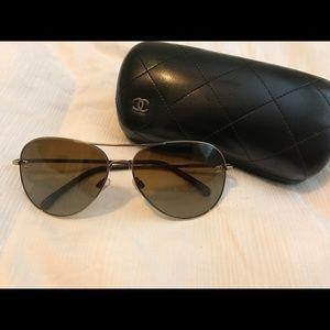 bdfe7e2ed6 CHANEL Accessories - Chanel 4189TQ C395 S9 Gold Polarized Brown
