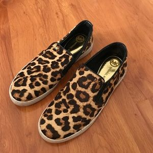 Michael Kors Shoes - Michael Kors leopard print slip on sneakers