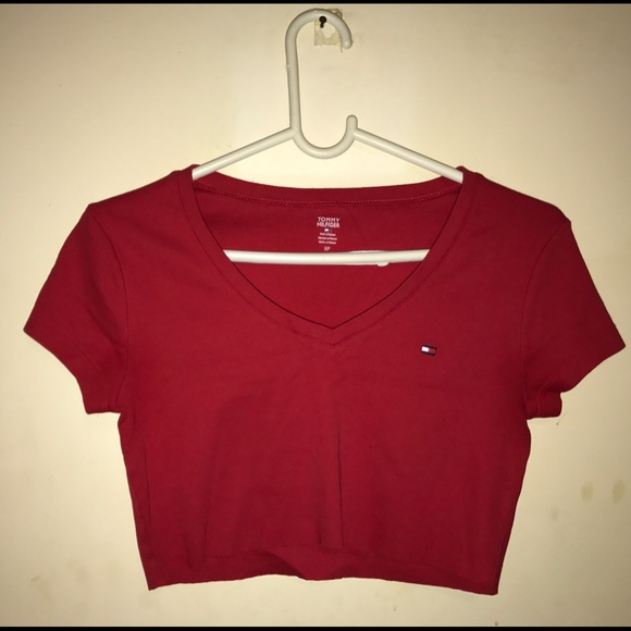 2edaabc69e8f8 Vintage Tommy Hilfiger crop top Red. M 58e6be91981829183001be52
