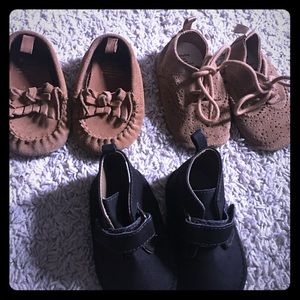 Other - 3 Pairs of Infant Shoes Size 6-12 months