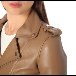 Maje Jackets & Blazers - BNWT Maje basalt style leather biker jacket, US 6