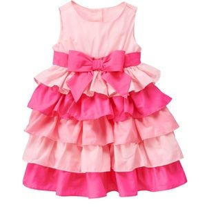 KYLIEKIDS Other - In stock! Ruffled pretty in pink  dress 6mos-2T