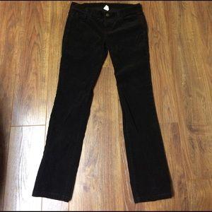 J.Cew city fit dark brown Corduroy Pants