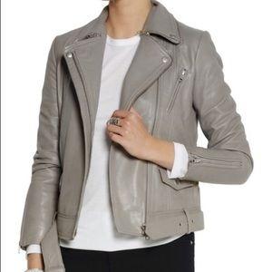 Maje Jackets & Blazers - BNWT Maje Edouard leather moto jacket, US6
