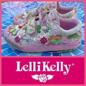 Lelli Kelly Kids Other - ADORABLE!  Lelli Kelly Fantasia Velcro sneakers 27