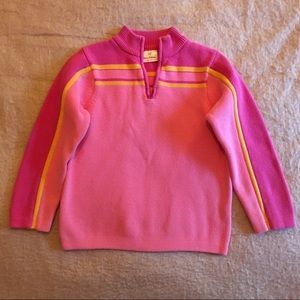 Hanna Andersson Other - Hanna Andersson Pink Striped Zip Sweater