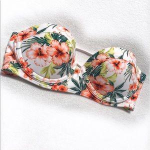 Hollister Other - 🆕Hollister • Floral Strapless Bikini Top