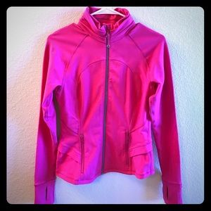 Lululemon bright pink peplum jacket