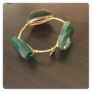Bourbon and Bowties Jewelry - Emerald Bourbon and Bowties Bangle