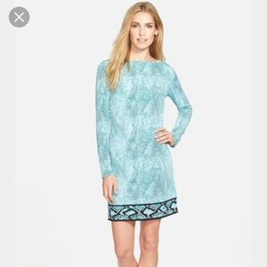 Michael Kors Snakeskin Border print shift dress