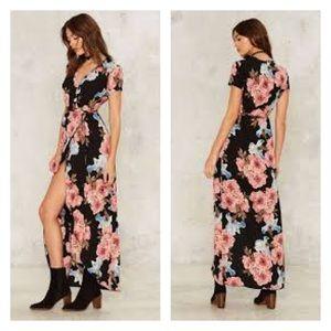 Nasty Gal Dresses & Skirts - Nasty gal - more flower ya ya wrap dress