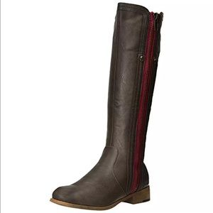 Luichiny Womens Express Lane Brown Boots- Size 7
