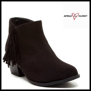 Anna Shoes - BOHO BOOTS Vegan Suede Fringe BOOTIE
