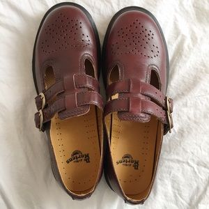 Dr. Martens Smooth Cherry Red Mary Janes