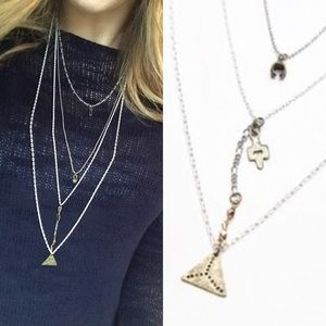 Free People Jewelry - free people waterfall necklace layer festival