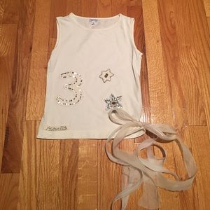 Simonetta Other - Simonetta girls ivory sleeveless knit top 9
