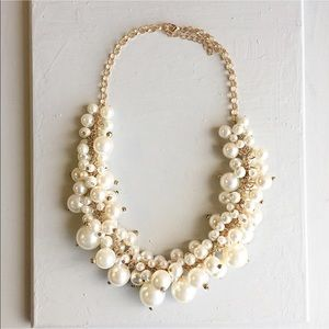 Handmade statement pearls  necklace