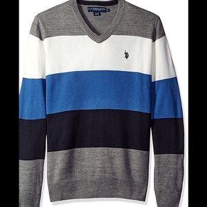 U.S. Polo Assn. Other - Men's V-neck Striped Sweater U;S; POLO ASSN. NWT