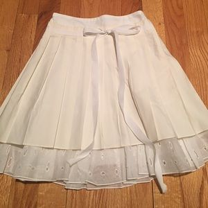 Simonetta Other - Simonetta girls ivory pleated skirt 8