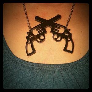 Jewelry - Black Pistol Necklace