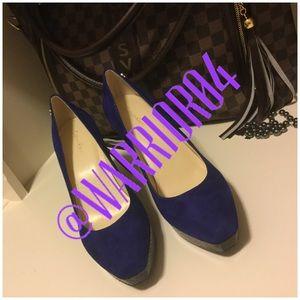 Calvin Klein Shoes - Calvin Klein Blue Heels Size 7