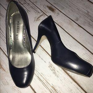 Madden Girl Shoes - ✨Sale✨Madden Girl - Navy Getta Heel