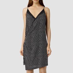 AllSaints Alize K Crush Dress black & white. US 2