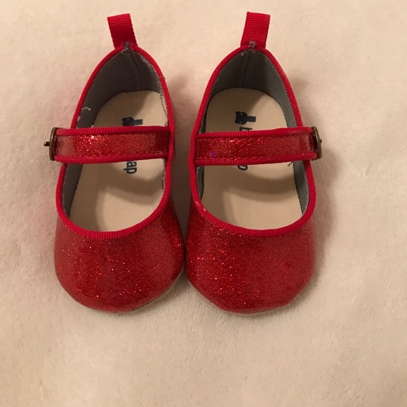 Gap Shoes Baby Girl Red Glitter Mary Janes Poshmark