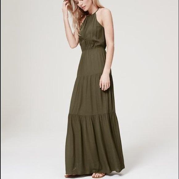 0d19119df8e LOFT Dresses   Skirts - LOFT tiered olive green maxi dress