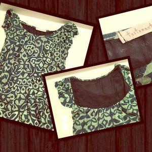 testament Tops - Green ruffle shirt by Testament