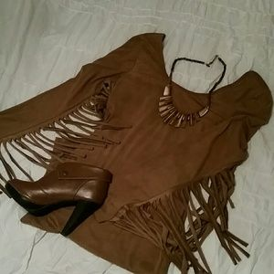 Krush Dresses & Skirts - Bodycon Dress with Fringe