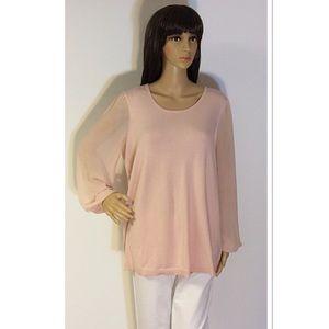 Grace Sweaters - SZ 0X PINK BLUSH SWEATER