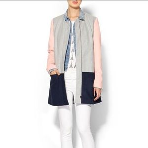 Sabine Jackets & Blazers - Sabine Colorblocked Full Zip Coat