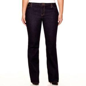 a.n.a. Bootcut Jeans - Dark Rinse (22W)