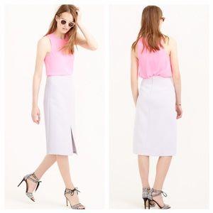 Jcrew lavender A-line Skirt In Bonded Wool NWOT