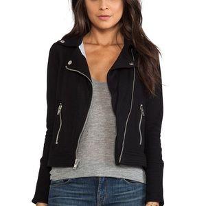 Chaser Jackets & Blazers - Chaser Fleece Moto Jacket Black Sz M