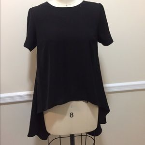 Philosophy hi/low black blouse