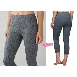 lululemon athletica Pants - Lululemon Wunder Under Roll Down Leopard High Rise
