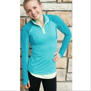 lululemon athletica Tops - Lululemon Trail Bound Half-Zip Blue Tropics Hiking