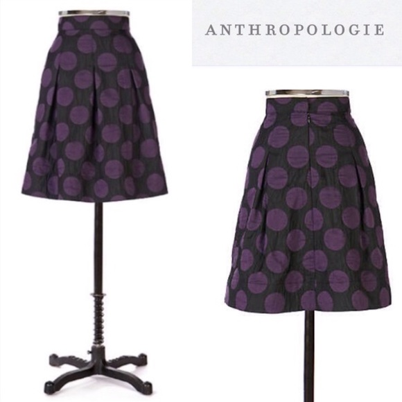 Anthropologie Dresses & Skirts - Anthropologie It's My Party Skirt Purple Black