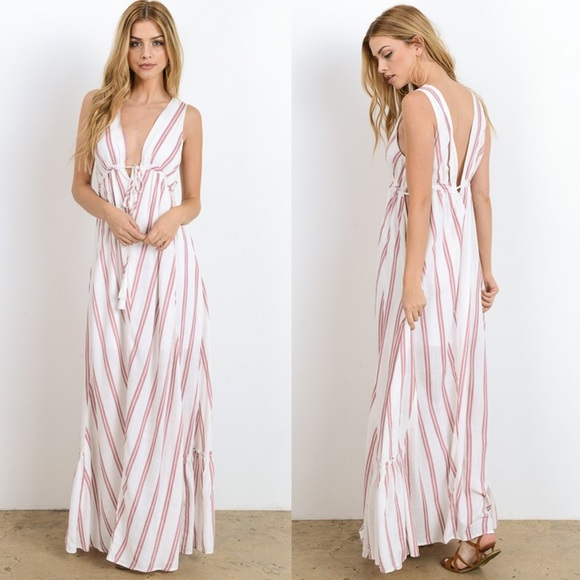 Bellanblue Dresses & Skirts - 🆕MACIE striped maxi dress - ROSE